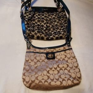 2 Coach crossbody bags